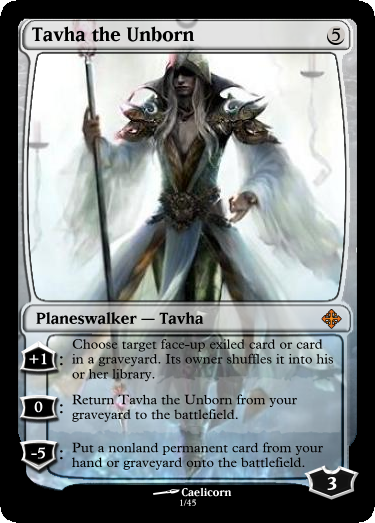 "Colorless ""Ghost"" Planeswalker - Tavha - Custom Card ... Planeswalker Activated Ability"