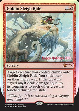 2015 Christmas Card: Goblin Sleigh Ride - The Rumor Mill - Magic ...