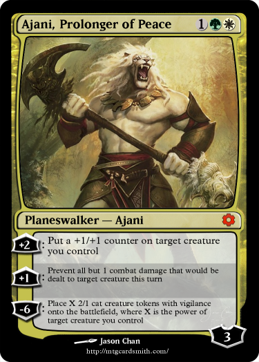 Praying for a g/w ajani in aether revolt! - Custom Card ... Planeswalker Aether Revolt