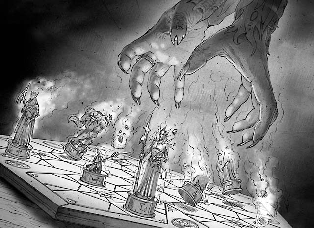 Magic: the Boardgame... from the new evacuate art ... Planeswalker Arena Board Game