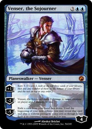 New Venser - Custom Card Creation - Magic Fundamentals ... Planeswalker
