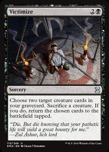 cards mtg victimize sorcery