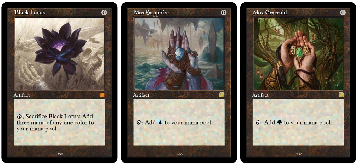 Power 9 And Dual Land Proxies The Cube Forum The Game Mtg