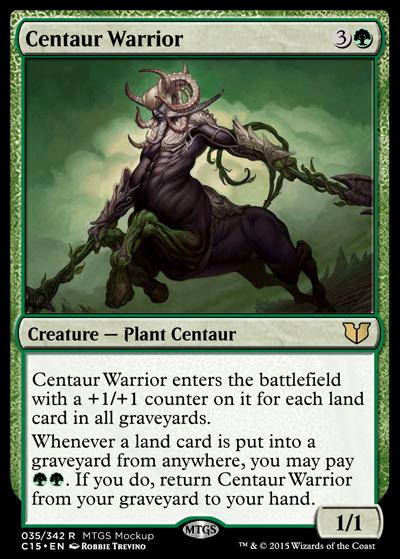 centaur warrior vine centaur  the rumor mill  magic