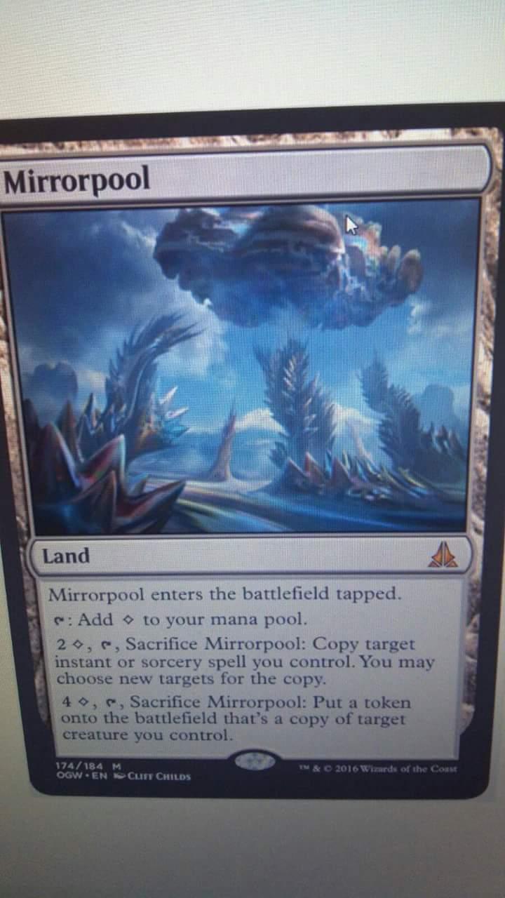 Ogw mirrorpool new mythic land producing new type of mana mirrorpool biocorpaavc