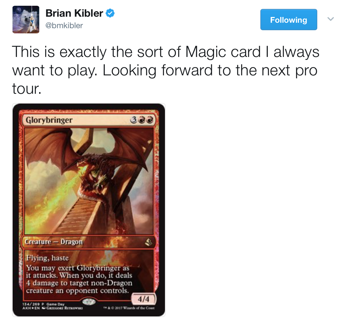 Glorybringer New Card Discussion The Rumor Mill Magic