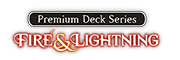 Premium Deck Series: Fire and Lightning Logo