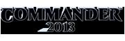 Commander 2013 Logo