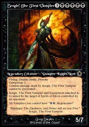 sengir the first vampire custom card creation magic fundamentals mtg salvation forums. Black Bedroom Furniture Sets. Home Design Ideas