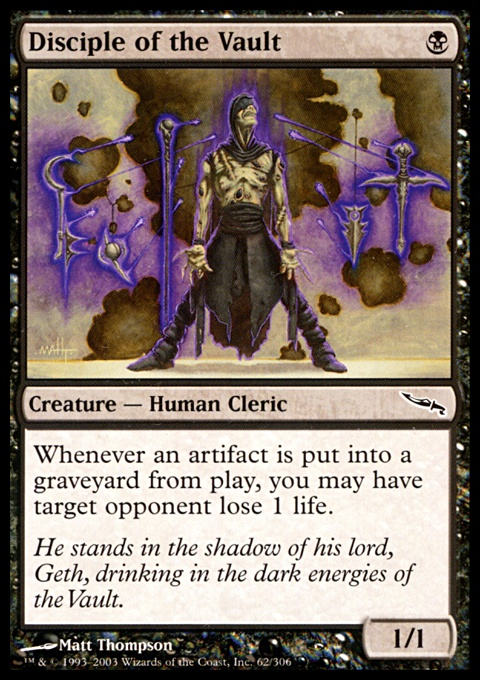 disciple of the vault  creature  cards  mtg salvation
