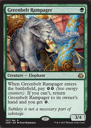 AER][CUBE] Greenbelt Rampager - Cube Card and Archetype