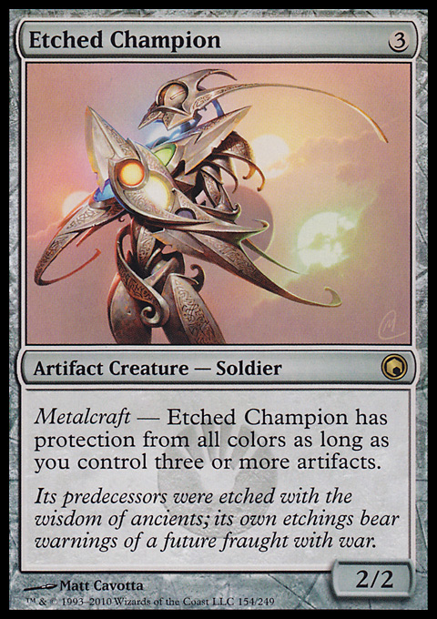 etched champion  artifact  cards  mtg salvation