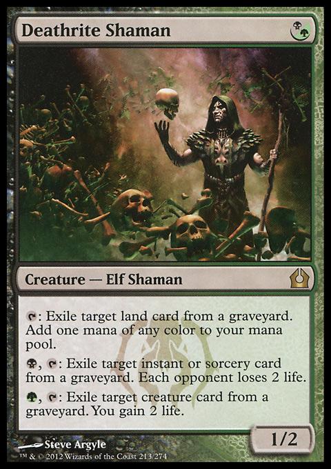 deathrite shaman  creature  cards  mtg salvation