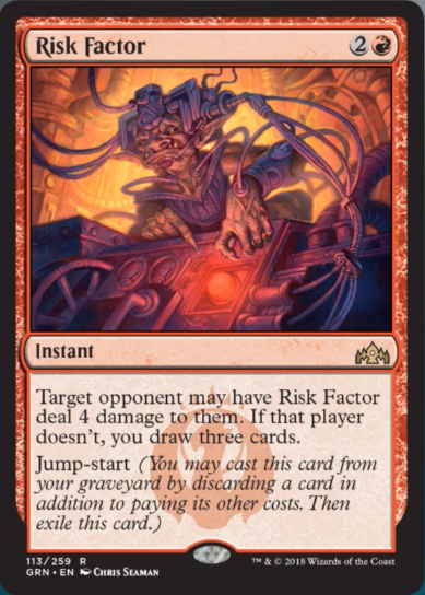 risk factor  instant  cards  mtg salvation