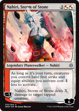 Nahiri stops her battle against Sorin to help fight against the Eternals