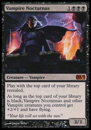 vampire nocturnus creature cards mtg salvation