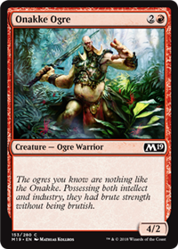 onakke ogre creature cards mtg salvation